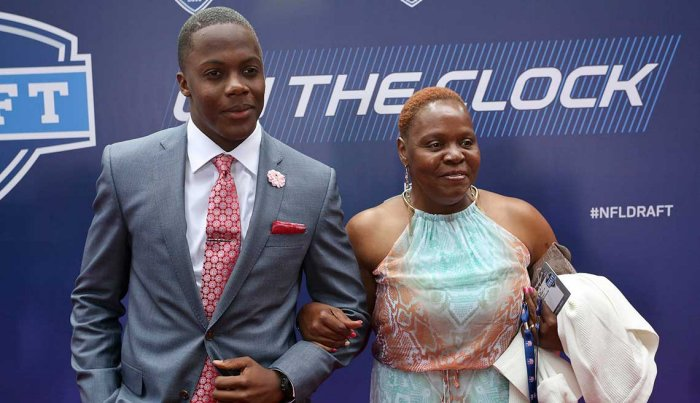 Terry Bridgewater and his mom