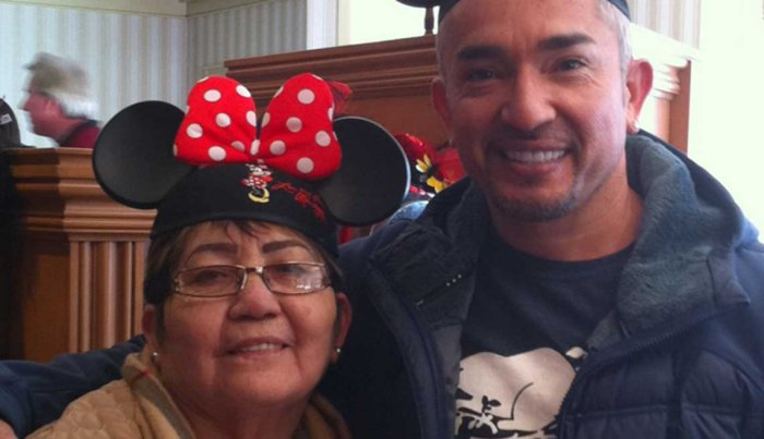 Cesar Millan and his mom
